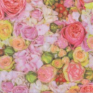 ペーパーナプキン(33)AMB:(5枚)Bed of Roses-AM556
