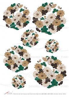 デコパージュ用ライスペーパー「FUNE」JSAR1024 陶絵 丸紋菊