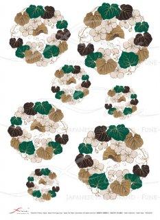 デコパージュ用ライスペーパー「FUNE」JSAR1032 陶絵 丸紋瓢箪