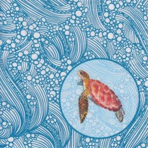 ペーパーナプキン(33)paper:(5枚)Tortoise-PA294