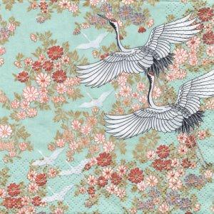 ペーパーナプキン(33)AVA:(5枚)Kimono(ミント)-AV11