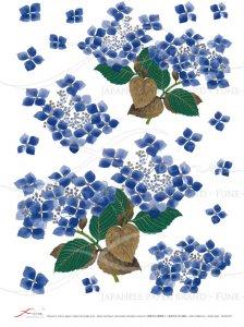 デコパージュ用ライスペーパー「FUNE」JSAR1037 陶絵 紫陽花