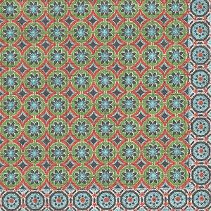 ペーパーナプキン(33)IHR:(5枚)MARRAKESCH green orange-IH410