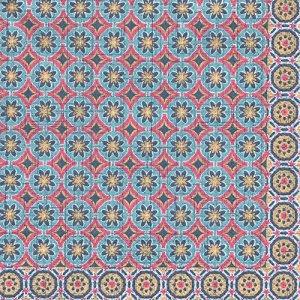 ペーパーナプキン(33)IHR:(5枚)MARRAKESCH blue pink-IH411