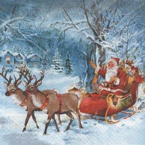 ペーパーナプキン(33)paper:(5枚)Santa on tour-PA143