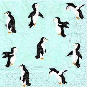 ペーパーナプキン(33)StewoAG:(5枚)ペンギン-ST93