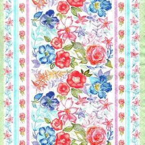 ペーパーナプキン(33)Maki:(5枚)Water Floral Pattern-MA165