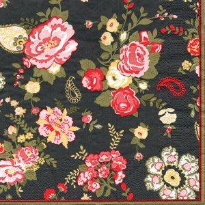 ペーパーナプキン(33)Maki:(5枚)Wallpaper with Roses-MA166