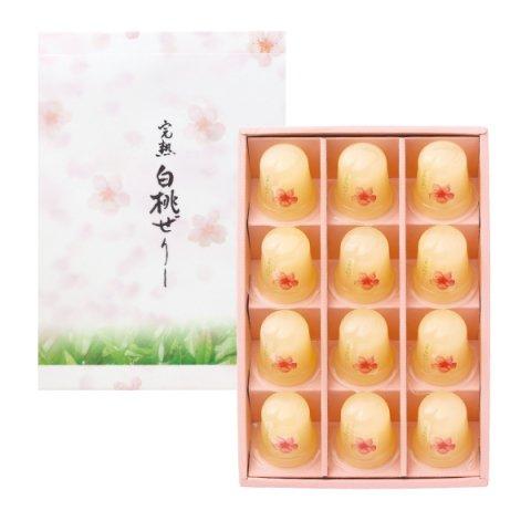 プチ完熟白桃ぜりー 12個入