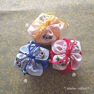 刺繍付きミニ花チュモニA