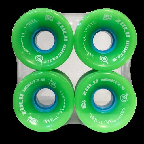 ZULU WHEELS ミニヌメリップ 78A 60mm グリーン