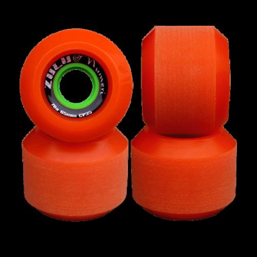 ZULU WHEELS ヌメリ 78A 65mm オレンジ