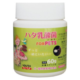 ハタ乳酸菌 FOR PETS(60g入り・約2ヶ月分 計量スプーン付)