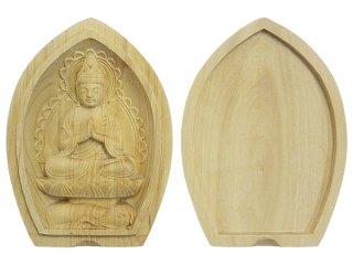 厄除け香合仏(普賢菩薩/柘植)