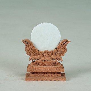 神鏡(けやき製) 上彫2寸