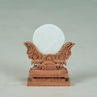 神鏡(けやき製) 上彫2.5寸