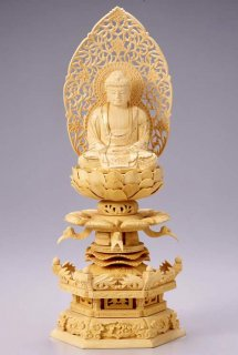 仏像 座釈迦 釈迦如来(柘植 ツゲ・ケマン座) 2.0寸