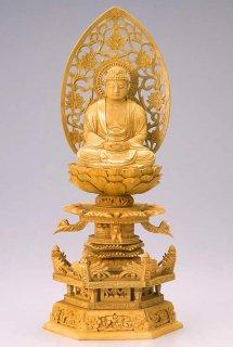 仏像 座釈迦 釈迦如来(樟 クス・ケマン座) 3.0寸