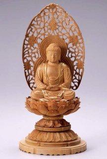 仏像 座釈迦 釈迦如来(白檀・丸台座) 3.0寸