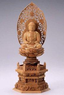 仏像 座釈迦 釈迦如来(白檀・六角座) 2.0寸