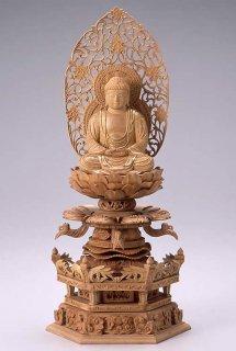 仏像 座釈迦 釈迦如来(白檀・ケマン座) 3.0寸