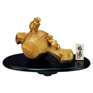 干支置物 子 ね 鼠 ねずみ 鋳鉄製 環水作 福寿(ふくじゅ)