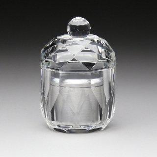 ミニ骨壺 クリスタルガラス器製骨壺 メモリアルポット TH-3