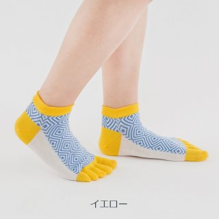 ネリオ柄五本指短々靴下