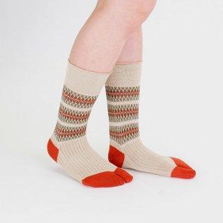 ジャガード柄足袋靴下