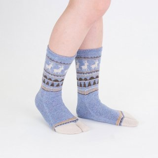 ノルディック柄足袋靴下