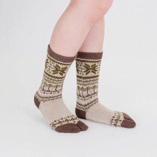 ルミ柄足袋靴下