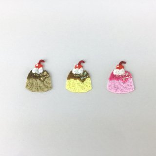 刺繍アイロン圧着ワッペン【プリン】