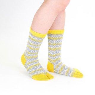 ライン柄足袋靴下