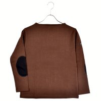 < SAINT JAMES / セントジェームス > OUESSANT ELBOW PATCH CHOCO × NOIR