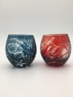切子ペアグラス キリコ
