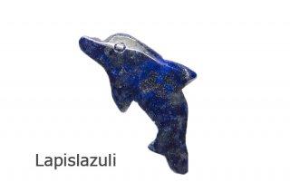 ラピスラズリ お守り石 アフガニスタン産|イルカ|最高の護符|Lapislazuli|