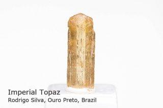 インペリアルトパーズ 結晶石 ブラジル産|Rodrigo Silva, Ouro Preto, Brazil|Imperial Topaz|黄玉|