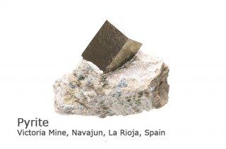 パイライト結晶 スペイン産 結晶の美しさは最高 Victoria Mine, Navajun, La Rioja, Spain Pyrite 
