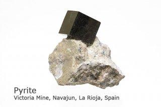 パイライト結晶 スペイン産|結晶の美しさは最高|Victoria Mine, Navajun, La Rioja, Spain|Pyrite|