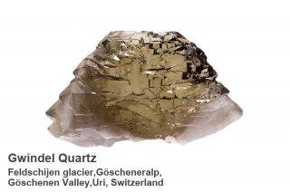 【グインデル】スモーキークォーツ スイス産 Feldschijen glacier,Goscheneralp, Goschenen Valley,Uri, Switzerland 煙水晶 