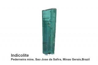 インディゴライト 結晶石 ブラジル産|Pederneira mine, Sao Jose da Safira, Minas Gerais, Brazil|リシア電気石|Indicolite|