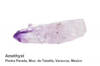 アメジスト 結晶ポイント メキシコ産|ベラクルス アメジスト|メキシコ産|Amethyst|Piedra Parada, Mun. de Tatatila, Veracruz, Mexico|紫水晶|