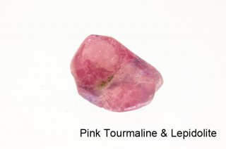 【お守り石】ピンクトルマリン&レピドライト お守り石 ブラジル産|Pink Tourmaline & Lepidolite|