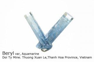 アクアマリン 結晶 ベトナム産|非加熱|Doi Ty Mine Vietnam|Aquamarine|Beryl|