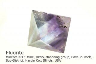 【厳選】フローライト 結晶 八面体|大きなサイズ|蛍石|磨き|希少なイリノイ産|Minerva NO.1 Mine, Cave-in-Rock, Illinois, USA|Fluorite|