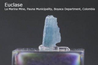 ユークレイス 結晶石 コロンビア産| La Marina Mine, Pauna Municipality, Boyaca Department, Colombia|Euclase|ケイ酸塩鉱物|