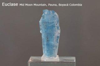 ユークレイス 結晶石 コロンビア産  Mid Moon Mountain, Pauna, Boyaca Colombia Euclase ケイ酸塩鉱物 