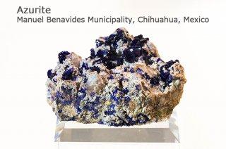 アズライト 結晶 メキシコ産|Azurite|Manuel Benavides Municipality, Chihuahua, Mexico|藍銅鉱|