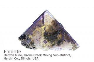 フローライト 結晶石 イリノイ産|Denton Mine, Harris Creek Mining Illinois, USA|蛍石|Fluorite|