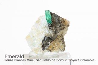 エメラルド 結晶石 コロンビア産|緑柱石|Penas Blancas Mine, San Pablo de Borbur, Boyaca Colombia|Emerald|